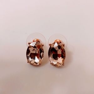 Express light pink crystal earrings, brand new!